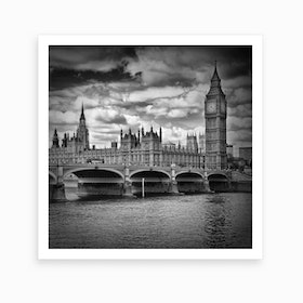 London Westminster Square Art Print