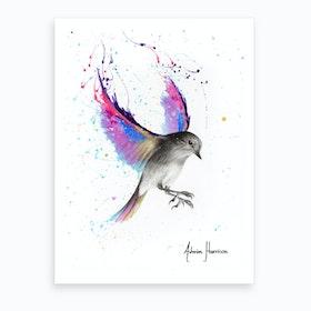 September Sunset Bird Art Print