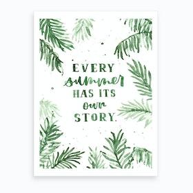 Summer Story Art Print