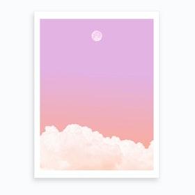 Gradient Moon Art Print