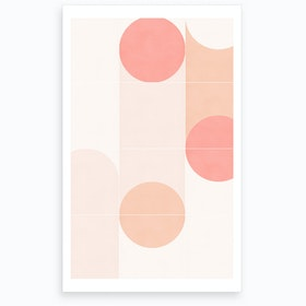wrong Retro Tiles 09 Art Print