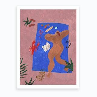 Blue Blanket Art Print