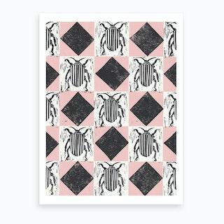 Stripey Bug Art Print