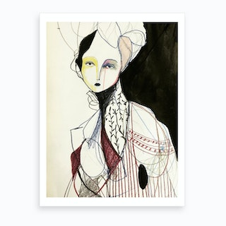 Madame Butterfly Ii Art Print