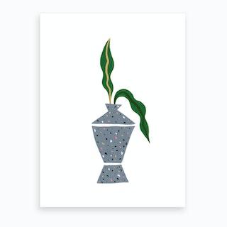 Terrazo Planter Art Print