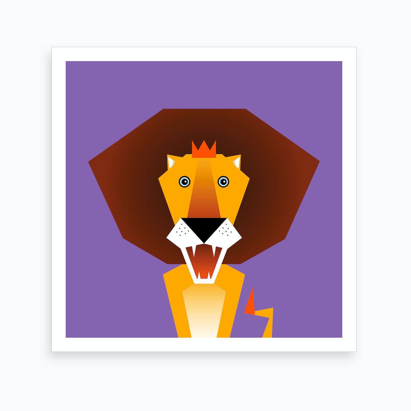 Kids Room Lion Art Print