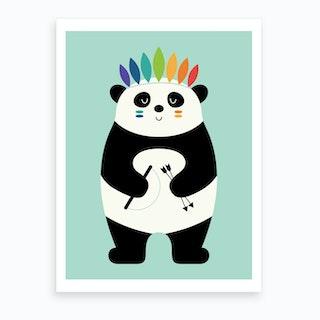 Be Brave Panda  Art Print