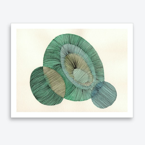 Abstract Line 02 Art Print