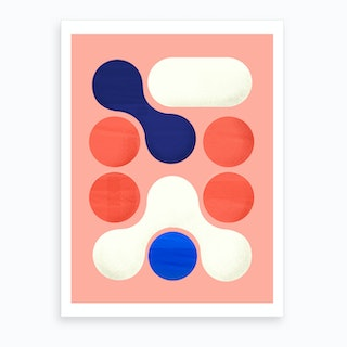 Shapes  Modern Geometry No2 Art Print