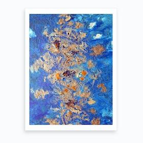 Souls In Blue Art Print