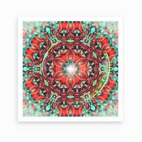 Abstract Mandala V Art Print
