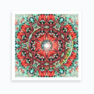 Abstract Mandala V Art Print