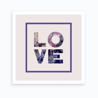 Succulent Uv Love Art Print