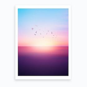 Abstract Sunset VIII Art Print