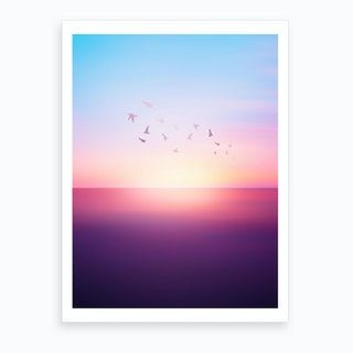 Abstract Sunset VIII Art Print