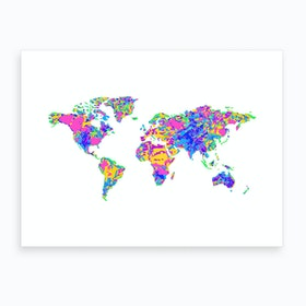 Artistic World Map Vi Art Print