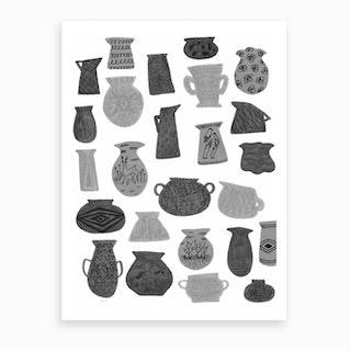 Grey Pottery  Art Print