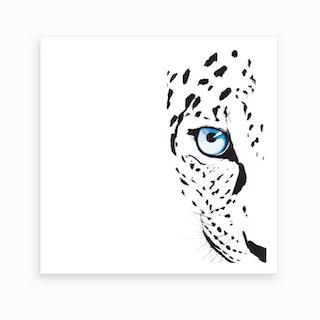 Snow Leopard Square Art Print