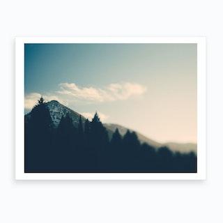 Mountains At Sunset Art Print