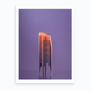 Serial Chair Art Print