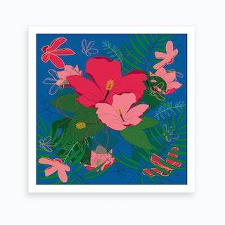 Hibiscus Says 2 Art Print