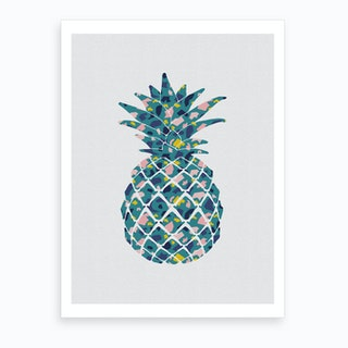 Pineapple Teal Art Print