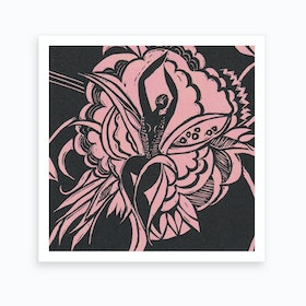 Flower Dancer Pink Art Print