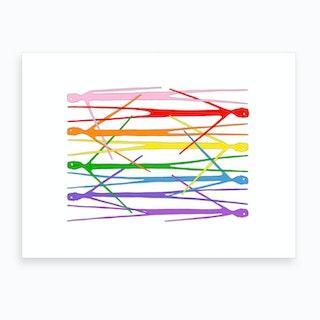 Rainbow Dudes Art Print