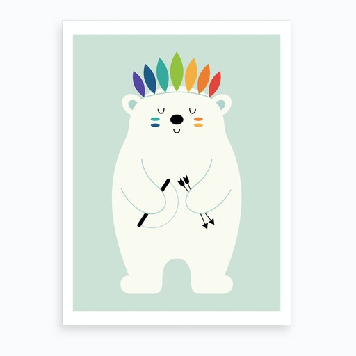 Be Brave Polar  Art Print