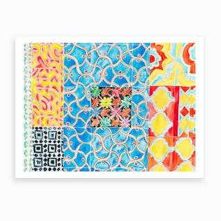 Patterned Tiles Art Print
