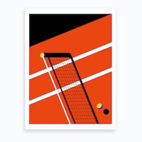 Midnght Tennis Miami Art Print