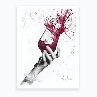 Wine Twirl Art Print