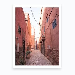 Moroccan Street Marrakech 2 Art Print