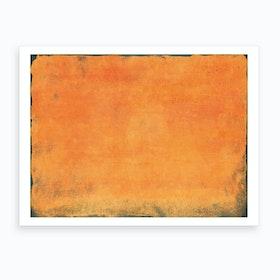 Minimal Orange Abstract Colorfield Painting 1 Art Print