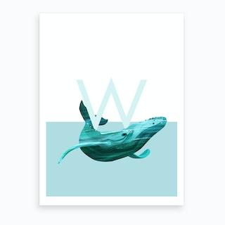 W Walvis Art Print