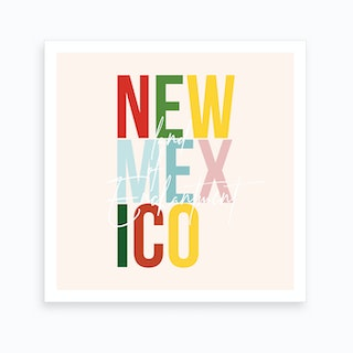 New Mexico Land Of Enchantment Color Art Print
