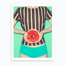 Ruby Grapefruit Art Print