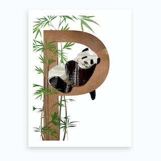 P Panda Art Print