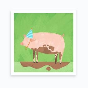 Party Pig Art Print
