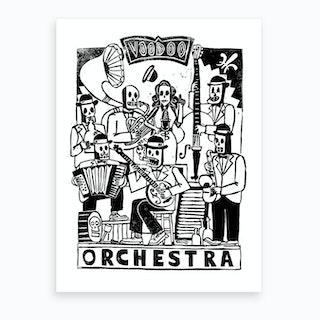 Voodoo Orchestra Art Print