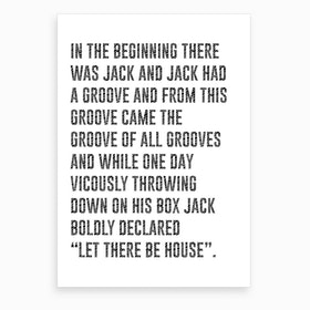 Jack Had A Groove Art Print