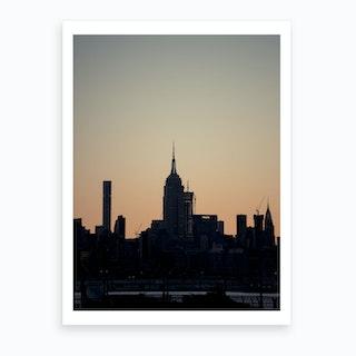 Empire State Silhouette  Art Print
