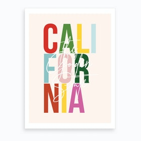 California The Golden State Color Art Print