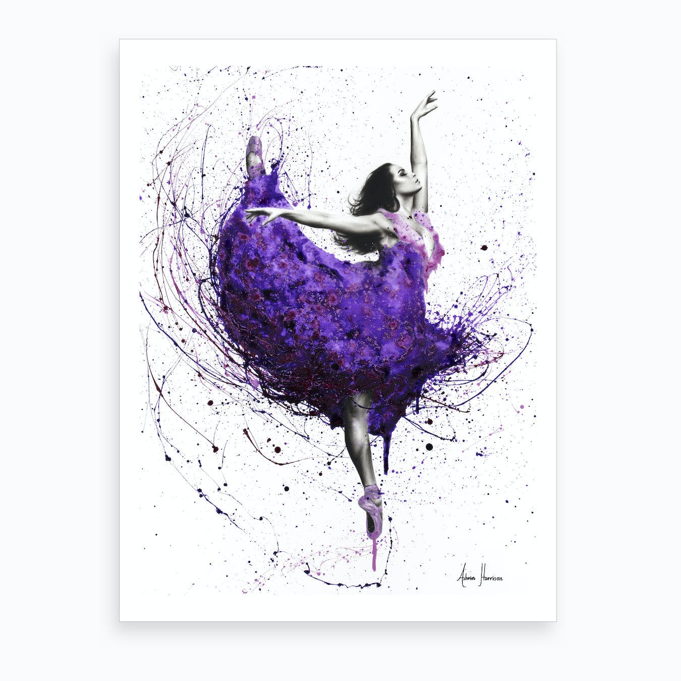 Purple Plum Ballet Art Print