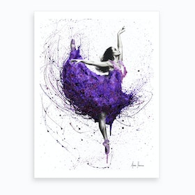 Purple Plum Ballet Art Print