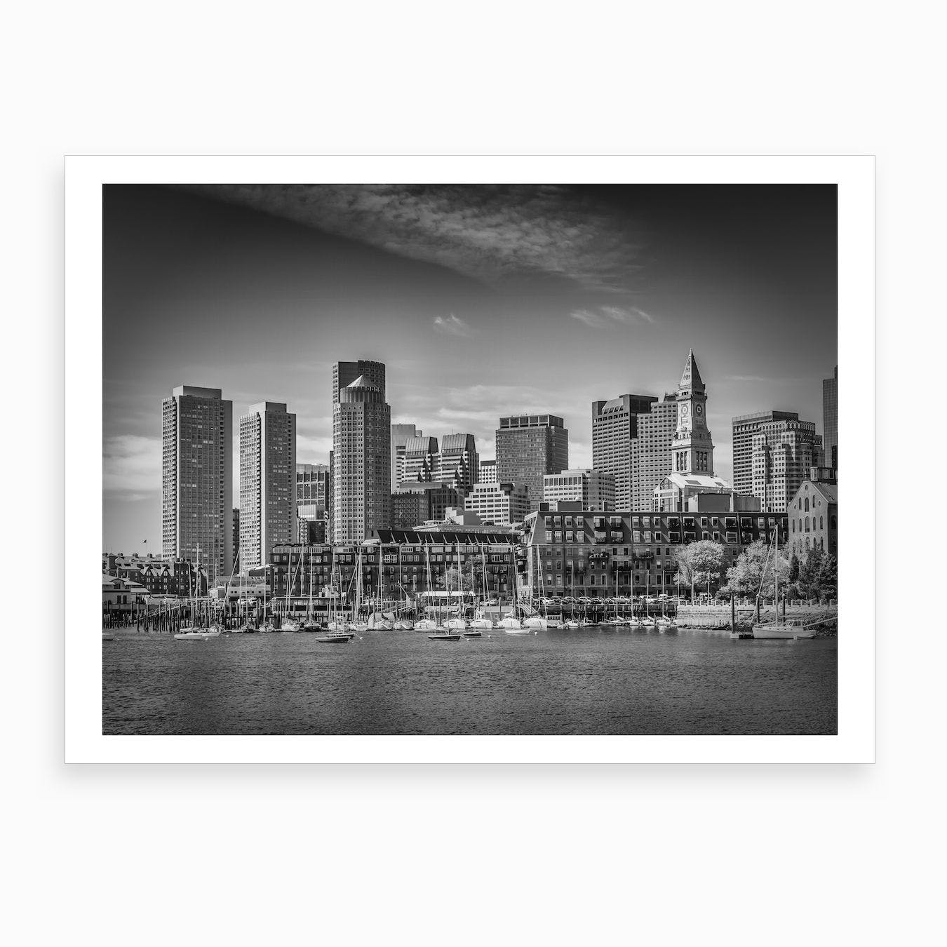 Boston Skyline Art Print