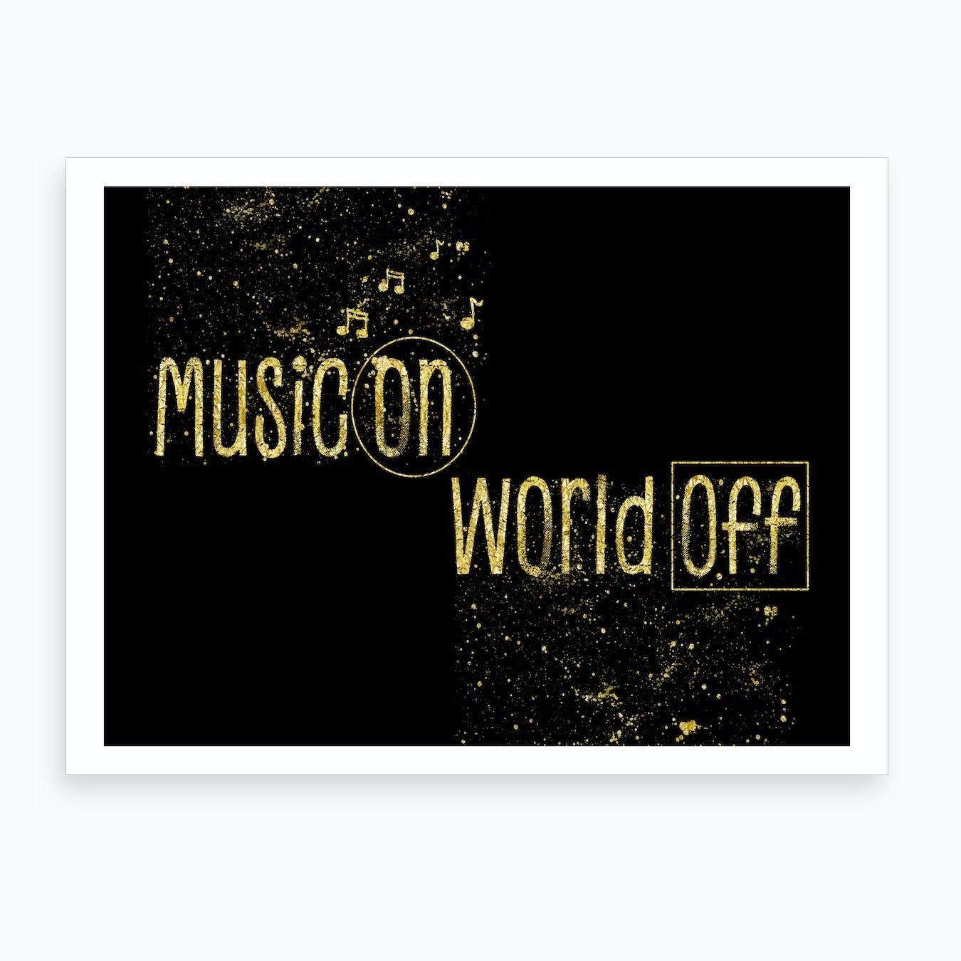 Music On Art Print