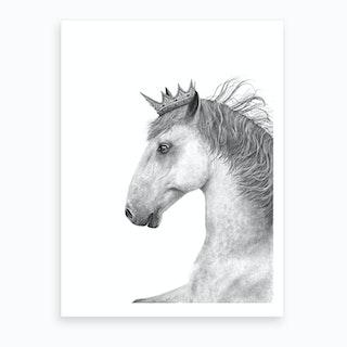 King Horse  Art Print
