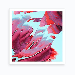 Swipe To Red Art Print