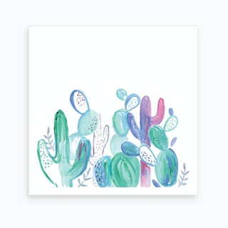 Abstract Cacti Art Print